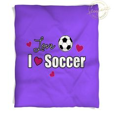 Soccer Blankets Personalized - Soccer Ball Themed Fleece Throw for Girls -  Kids Player, Team Gift #417 by EloquentInnovations on Etsy