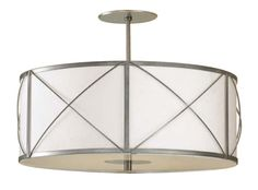 "18"" X FRAME DRUM SHADE DUO MOUNT :: FLUSH & SEMI-FLUSH FIXTURES :: Ceiling lights Toronto, Bath and vanity lighting, Chandelier lighting, Ou..."