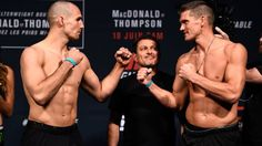 awesome Rory MacDonald vs. Stephen Thompson weigh-in - UFC Fight Night