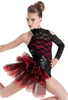 Costume Weissman™ | Sequin Lace Side Bustle Biketard