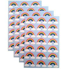 amazoncom 84 rainbow stickers toys games unicorn birthday partiesunicorn partycraft stickersrainbow partiesrainbow unicornletter writingholiday