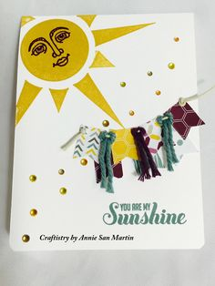Annie San Martin - Craftistry -  stampin' up - ray of sunshine- greeting cards
