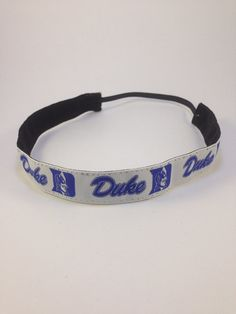 Duke Blue Devils nonslip headband for everyday by YourManeSqueeze, $8.00