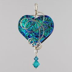 360 Fusion Glass Blog: What's New: Wire Wrapped Fused Glass Marquis Pendants