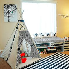 iHeart Triangles Teepee from Little Fierce One on Storenvy