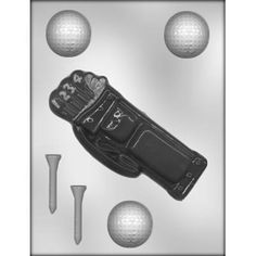 Golf Balls, Tee'S & Bag Sports Chocolate Candy Mold Ck #6805 -