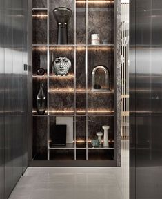 Luxury Residence by RIS Interior Design - Art In The Home - Shelves Shelving Design, Shelf Design, Cabinet Design, Wall Design, House Design, Design Design, Cabinet Ideas, Luxury Homes Interior, Modern Interior Design