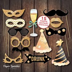 21 New Years Eve Decoration Ideas: Set up a great New Years party with this 10 minute decoration ideas. Your friends will love it!