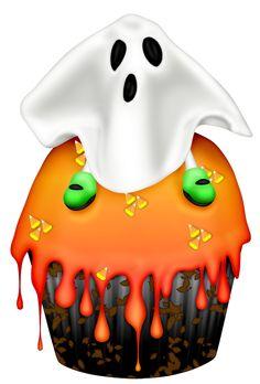 Halloween cupcake clipart