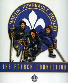 The Famed French Connection of the Buffalo Sabres.before they had to wear helmets! I always thought Rick Martin was the cute one! Best hockey team EVER! Hockey Games, Hockey Players, Ice Hockey, Buffalo New York, Buffalo Sabres, All That Matters, Buffalo Bills, Good Ole, French Connection