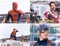 I had my doubts, but I LOVE Tom Holland as Spider-Man. I should know never to doubt Marvel!<<<<Marvel are amazing! Marvel Jokes, Avengers Memes, Funny Marvel Memes, Marvel Dc Comics, Marvel Heroes, Marvel Avengers, Marvel Universe, Captain America Civil War, Marvel Civil War