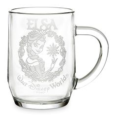 OWNED. (1) ♡ Elsa Glass Mug by Arribas - Personalizable | Disney Store