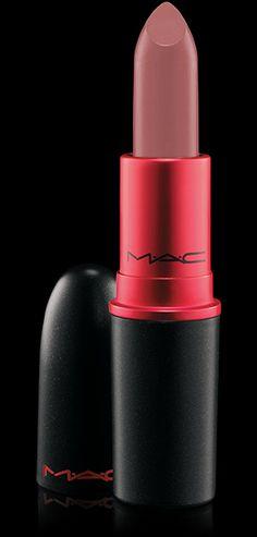 "MAC Cosmetics: Lipstick in ""Viva Glam II"" {pinkish beige} Flattering not flat, a nude perfect for most skin tones."