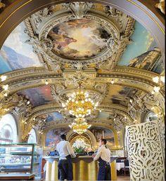 Le Train Bleu, a wonderful restaurant in Lyon train station Tour Eiffel, Lyon France, Paris France, Le Train Bleu, Art Nouveau, I Love Paris, Paris Ville, Museum Of Fine Arts, Paris Travel