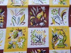 36 inch wide 1950s Polished Cotton Kitchen Print by VintageZipper