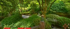 "Virtual Tour of the Upper Pool area of the Portland Japanese Gardens. ""The 5.5 acre Japanese Garden is composed of five distinct garden styles. When we enter a Japanese garden, the desired effect is to realize a sense of peace, harmony, and tranquility..."" Click on the picture to enter a virtual tour."