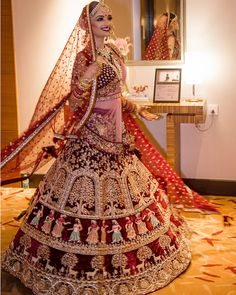 Red Bridal Lehenga with exquisite embriodery Picture Courtesy kamal kaur Mkaeup Beauty Scoop India Indian Lehenga, Indian Wedding Lehenga, Bridal Lehenga Choli, Bridal Red Lehenga, Punjabi Wedding Dresses, Sabhyasachi Lehenga, Lehanga Bridal, Rajasthani Lehenga, Wedding Sari