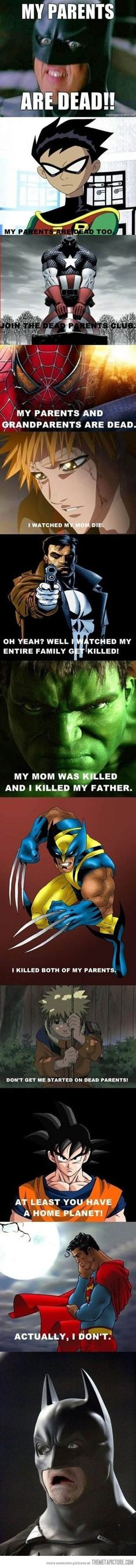 funny superheroes parents dead Batman