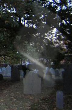 Strange mist in Haunted Salem Cemetery.