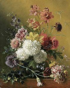 Stilleven met bloemen, Georgius Jacobus Johannes van Os, 1820 - 1861 rijksmuseum