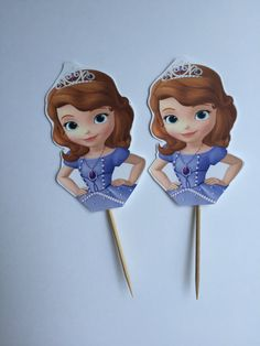 18 Sophia the first cupcake toppers by LamasatSarah on Etsy