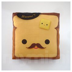 Aaah love these pillows♥♥♥♥           . #Pillow Toast Pillow French Toast Breakfast door mymimi, $14,00