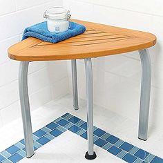 Teak Shower Seat - Teak-Shower-Bench