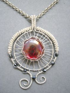Wire wrapped jewelry handmade wire wrapped by Wiredesignjewelry