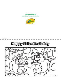 Valentines from @Crayola ! Just click and print