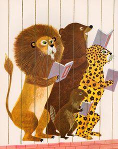 Berlitz French: Zoo Animals for Children, written by Robert Strumpen-Darrie, Charles Berlitz & Valerie Berlitz, illustrated by Art Seiden (1963).