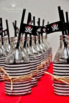 Festa Infantil - Pirata #3 Garrafas decoradas