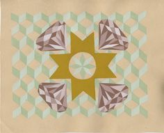 Diamonds by Courtney Brown  Gouache on Paper  2012