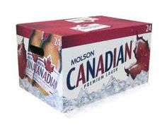 """Canada Oh Canada - a 24 case of beer called """"a in this case it is Molson Canadian. The brand of my youth! Canadian Beer, Canadian Things, I Am Canadian, Canadian History, All About Canada, Vancouver Bc Canada, Beers Of The World, Wine Cocktails, Drinks"""