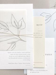 Gatherie Creative — Wedding Journal – Invitation Ideas for 2020 Wedding Paper, Wedding Cards, Diy Wedding, Wedding Suite, Ivory Wedding, Formal Wedding, Wedding Invitation Design, Wedding Stationary, Illustrated Wedding Invitations