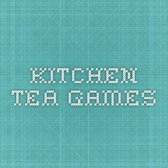 Kitchen Tea Games