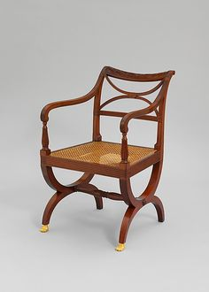 Armchair. Attributed to Duncan Phyfe  (1770–1854).  Date:     1791–1818. Geography:     Mid-Atlantic, New York, New York, United States.