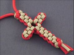 Paracord Cross-my hubby daniel made one for me (green in color) and its hanging on my rear view mirror.