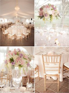 Delicate pinks and ivory with dashes of soft purple combine to create an undeniably romantic #wedding reception. So, so, so pretty! Add light blue and I would love!