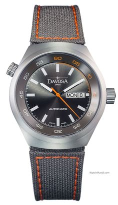 Davosa - Trailmaster Automatic. Rotating bezel adjustable via a screw-down  crown at 10 18b875d805