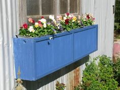 Old shutters to window boxes!