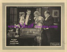 THE UNEASY THREE Original Lobby Card #5, starring Charley Chase and Bull Montana (1925)!