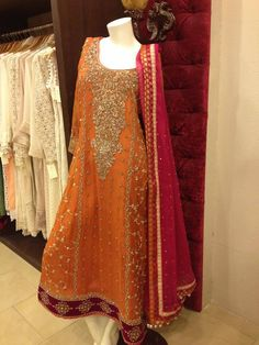 mehndi attire - just the gala wala kaam and not the rest