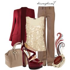 Cherry & Vanilla Holiday outfit- I just need some brown pants and I could have a version of this outfit.