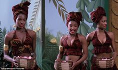 Cute: The only Coming to America character Beyoncé seemed to be channeling were the rose petal-tossing servant girls in the iconic film's fictional kingdom of Zamunda