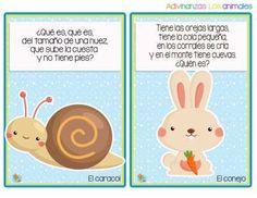 Divertidas adivinanzas de animales - Imagenes Educativas Tongue Twisters, Brain Games, Exercise For Kids, Riddles, Preschool Activities, Origami, Diy And Crafts, Homeschool, Poems