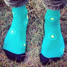 Bullseye! Get these funky socks at www.goodlucksock.com #socks
