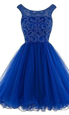 Royal Blue Homecoming Dresses, Backless Prom Dresses,