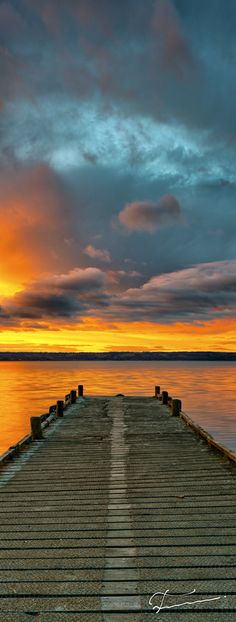 ~~Soon ~ golden sunset, jetty at Lake Rotorua, New Zealand. We had a boat cruise on the lake. Beautiful World, Beautiful Images, Beautiful Sunset, Beautiful Landscapes, The Great Outdoors, Wonders Of The World, Places To See, Cool Photos, Nature Photography