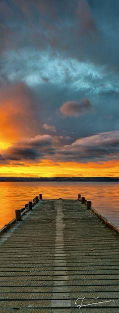 ~~Soon ~ golden sunset, jetty at Lake Rotorua, New Zealand by Timothy Poulton~~