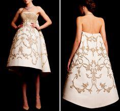 KRIKOR JABOTIAN Couture Spring/Summer 2015 short dresses fashion show photos pictures pics tumblr white beautiful